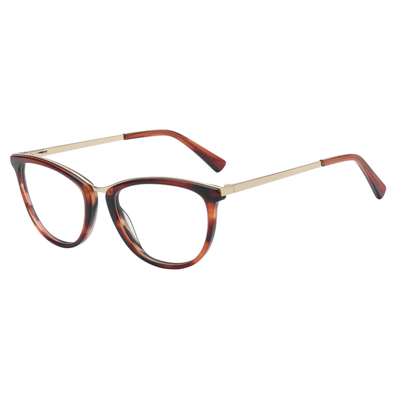 High quality Acetate-Metal-Combination Optical Frames OEM available, 7 colors