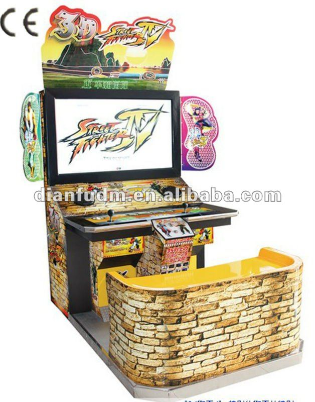 3D street fighter IV arcade cabinet video fighting games