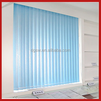 Office Door Motorized Roller Blue Vertical Blinds