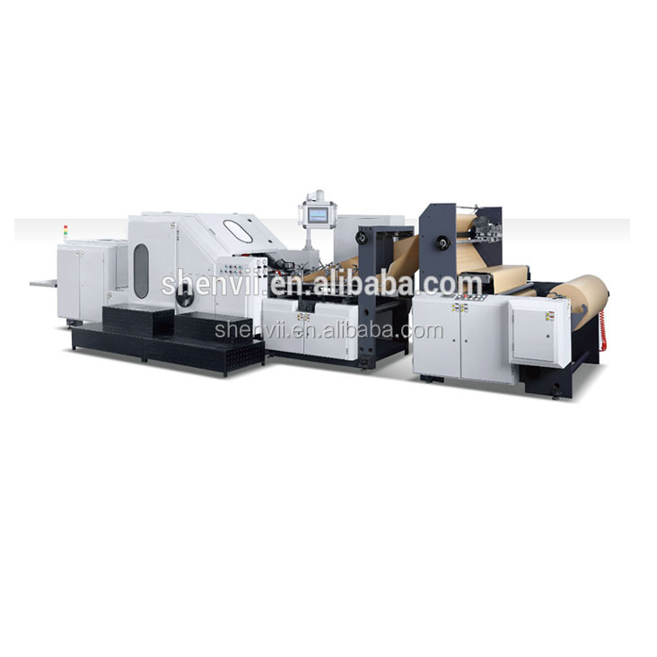 Widle Use Kraft Paper Bag Making Machine with Flexo Printing