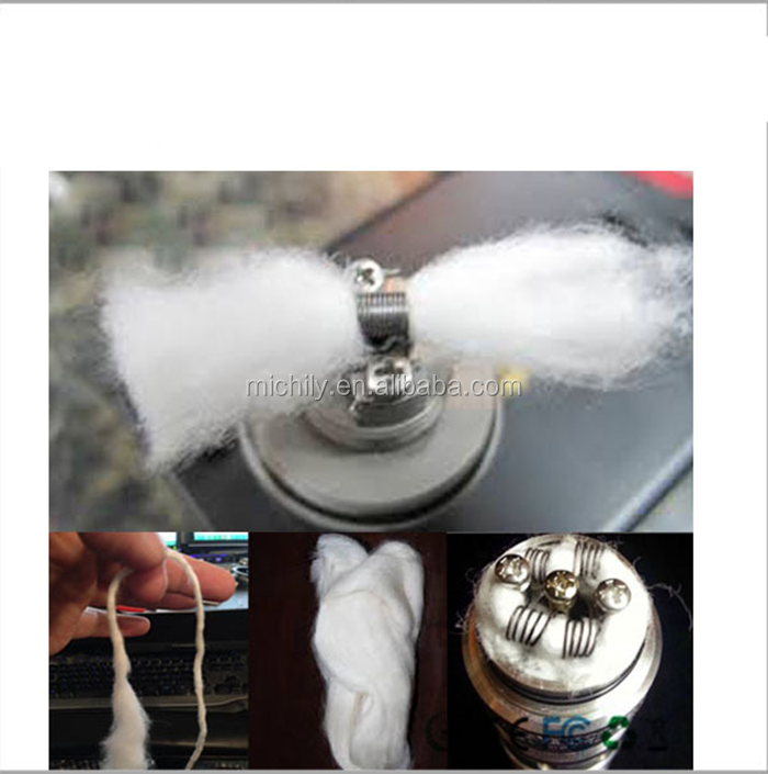 Genuine Wick Vape cheapest Cotton Bacon Vaping cotton Wick 2.0 Rebuildable tank cotton Muji puffs