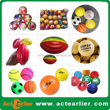 rubber/pu material solid/hollow super bouncy ball/ hand ball