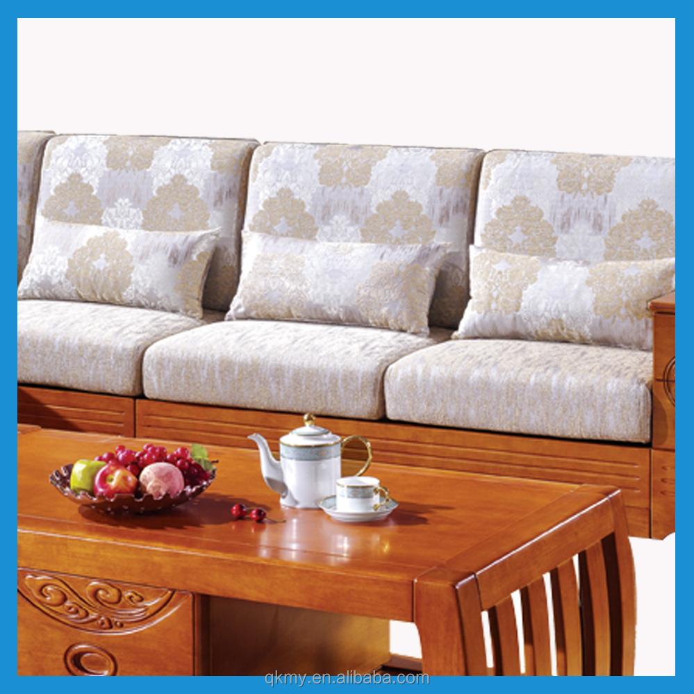 High Quality Living Room Furniture Solid Wood Corner Sofa