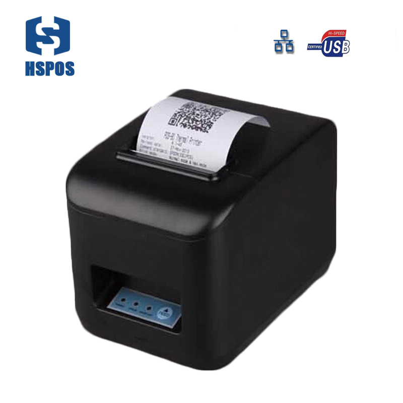 pos thermal printers 80mm with auto cutter ticket bill receipt printer for Coffee store and kitchen HS-830ULC