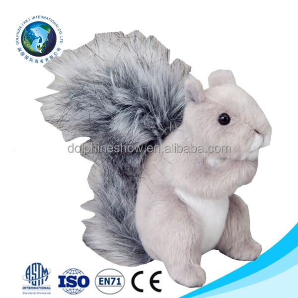 Life size cheap cute plush squirrel toy custom stuffed soft plush white squirrel