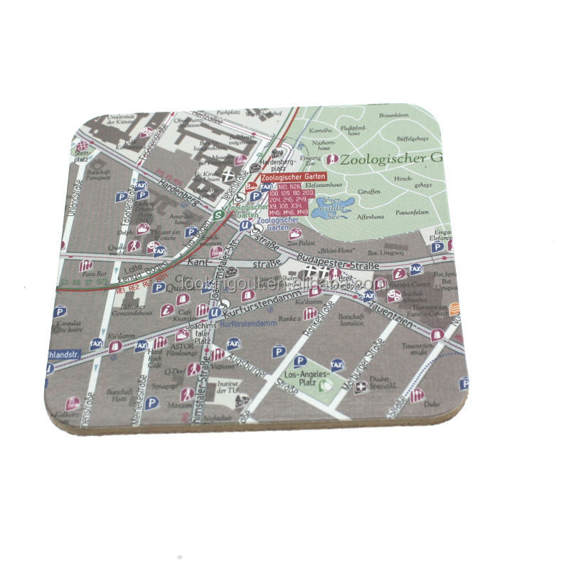 good quality promotional custom-made rectangle coasters