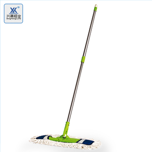 Hot Sale Sand Blasting Aluminum Alloy Telescopic Pole For 360 Rotatable Old  Fashioned Floor Spin Flat Cotton Dust Mop Frame