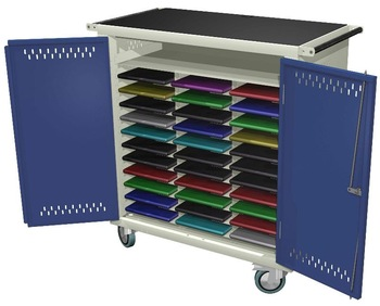 Beau Mobile Cart For Storage And Charging Of Laptops/Netbook/Tablets