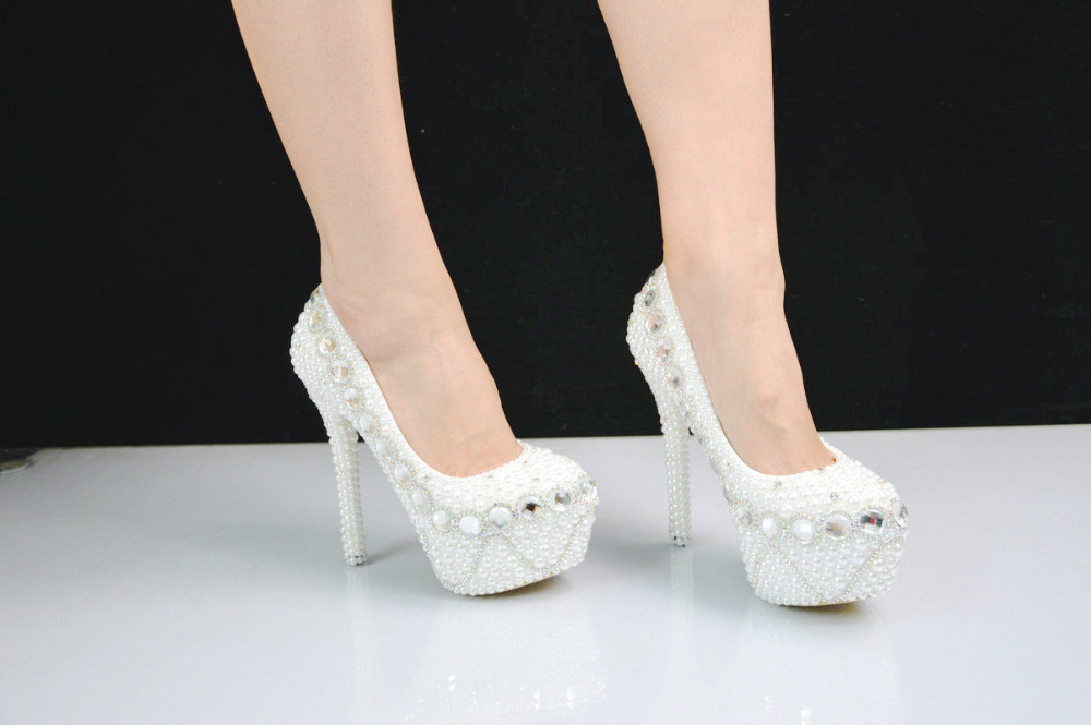 quality high shoe heeled heels shoes high platform size wedding shoes Ultra for Large Thin diamond pearls dating BS021 and 7AwBqA