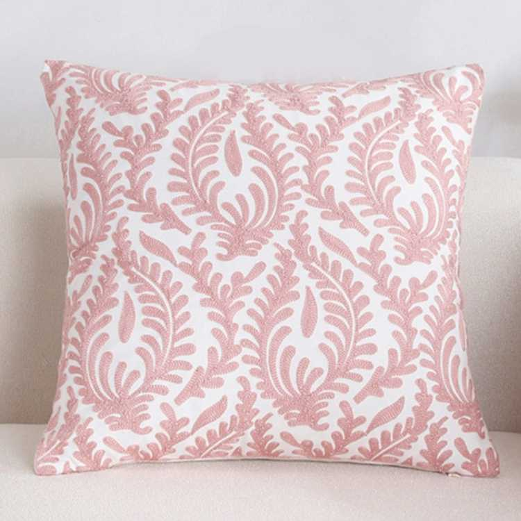 hot sale fancy ribbon embroidered handmade embroidery design pillow cushion covers wholesale
