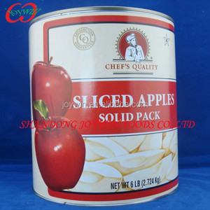 Solid pack apple slices 3kg canned