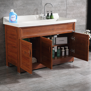 Modern Bathroom Sink Base Cabinets Laundry Tub With Cabinet
