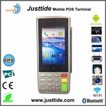 Justtide Factory Price Smart Android Magnetic Card POS, IC Card POS, NFC POS