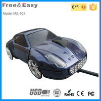 3D optical gift face car shape computer wired mouse for desktop