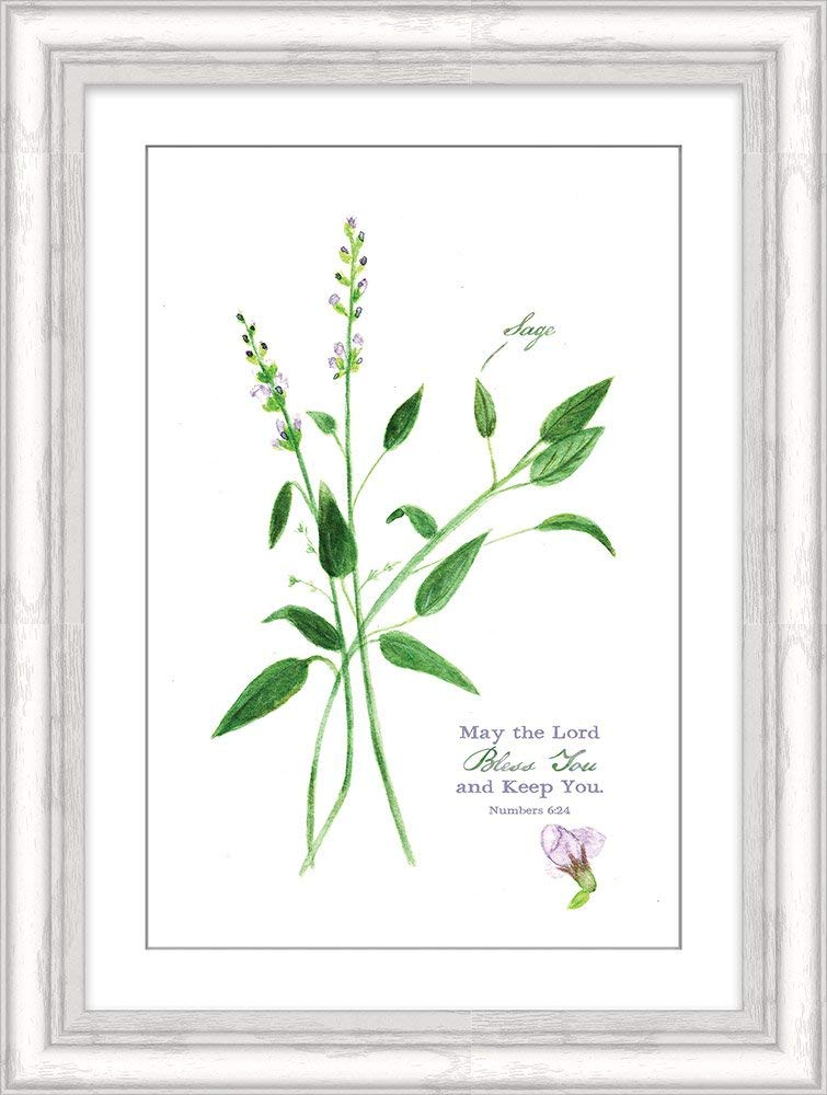 """Carpentree May the Lord Bless You Sage Framed Art 14"""" x 10"""", 14"""" x 10"""" x 0.25"""""""