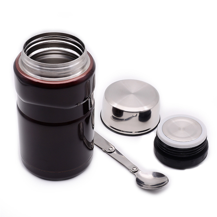 Stainless Steel Insulated Tiffin Colorful Lunch Box Food Stewing Pot with Spoon