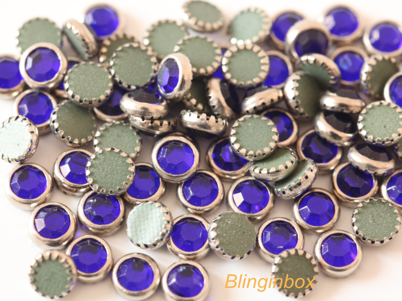 Wholesale Korea hot fix rhinestone with metal ring various color available