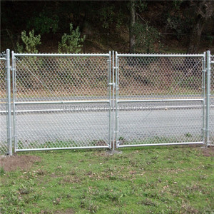 chain link fence double swing gate