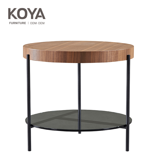 Wooden Round Side Table Coffee