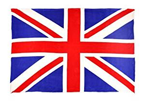 Sleeping Partners Union Jack Flag Coral Fleece Throw Blanket, Red/White/Blue by Sleeping Partners