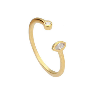 2017 925 sterling silver classic delicate design two stone open adjust size 925 knuckle latest gold finger ring designs