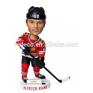 Resin hockey bobblehead