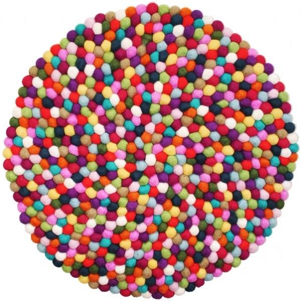 Comfortable Felt Ball Carpet Round Wool Rug Pebble Nepal Product On Alibaba Com
