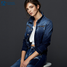 high quality denim jacket fashion womens dip dyed denim jeans jacket winter