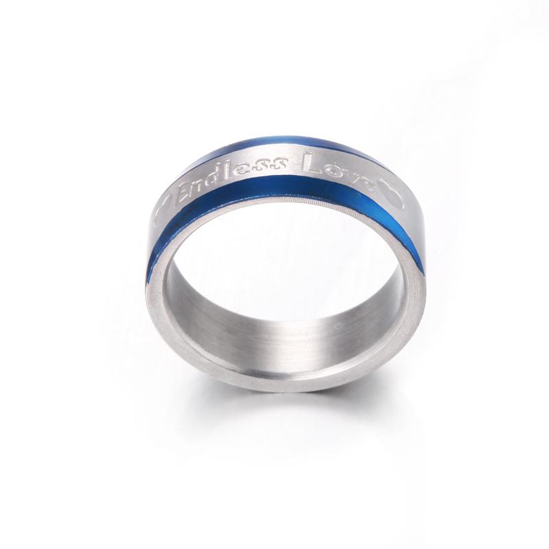 7fa0523321da Venta al por mayor anillo acero azul barato-Compre online los ...