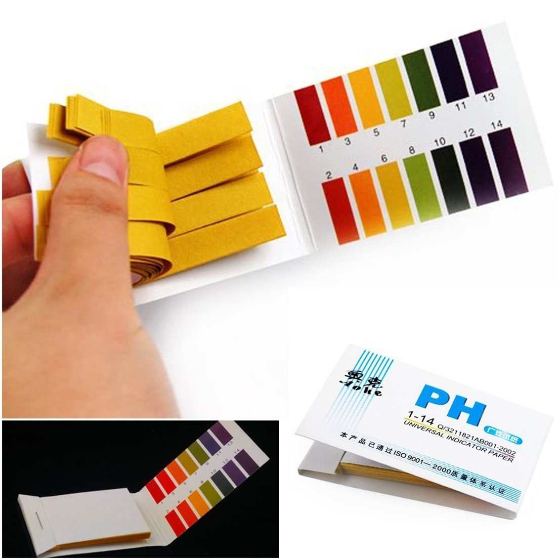 160x Test Cool Popular pH Tester Strips Litmus Acid Indicator Practical with Color Chart