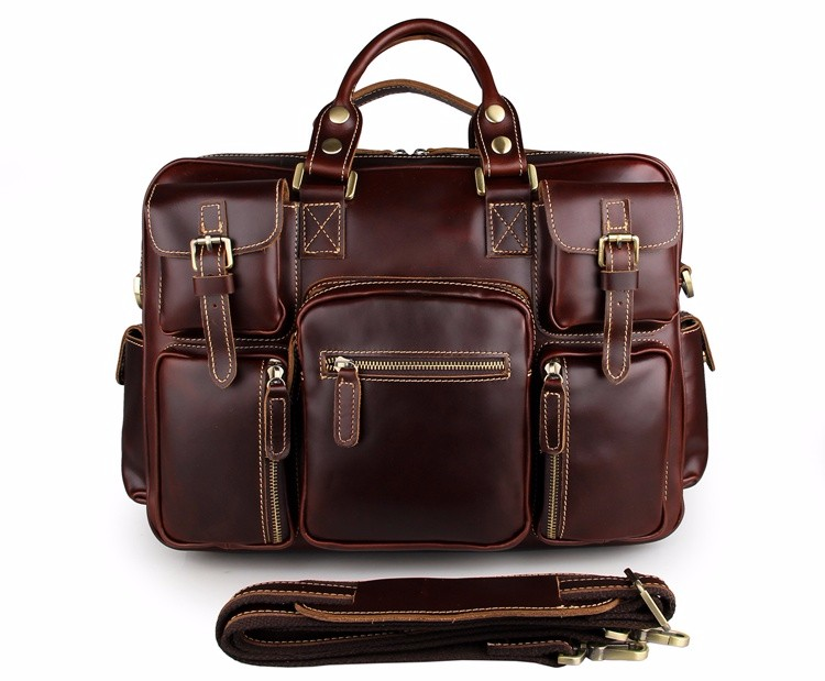 New Popular Italian Leather Laptop Business Briefcase Bags For Men
