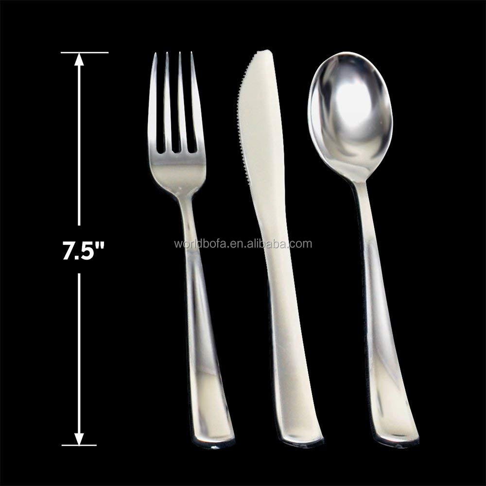 Premium Plastic Silverware Disposable Flatware Utensils for Parties