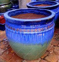 [wholesale] Outdoor glazed pottery - Outdor clay planters - Ceramic flower pots - Garden plant pot: