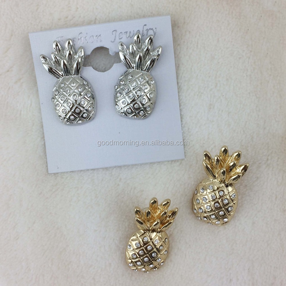 thebolddiamond products pineapple long stud earrings sam