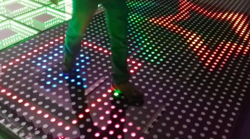 1pcs/lot, NEW stage Interactive LED Dance Floor Light ...