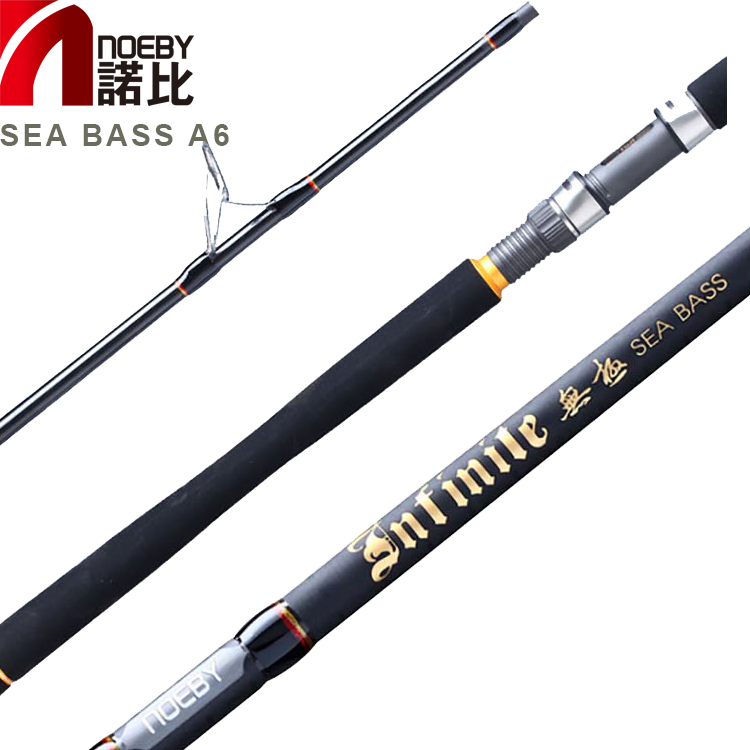 INFINITE A6 saltwater 2 section carbon fiber Fuji guides sea bass fishing rod
