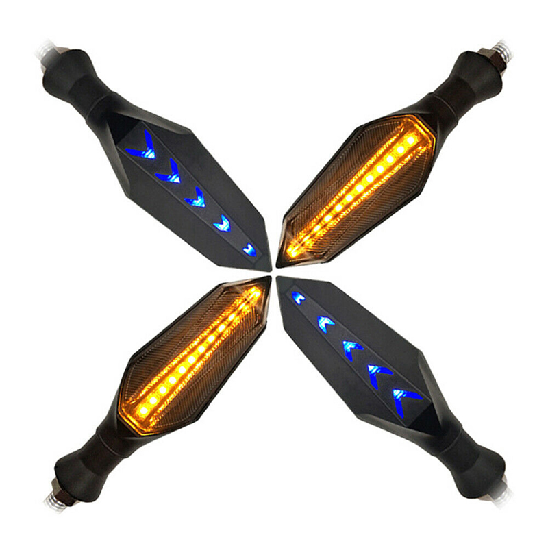 Universal led Motorcycle Light Mini Amber Racing Tail Brake Stop Turn Light Signal flowing led light for motorcycle
