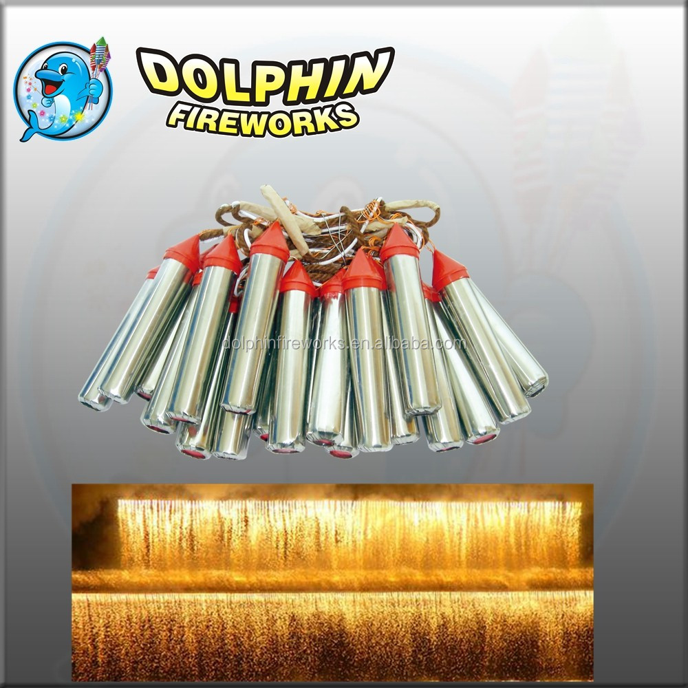 can be customized metal tube stage waterfall fireworks