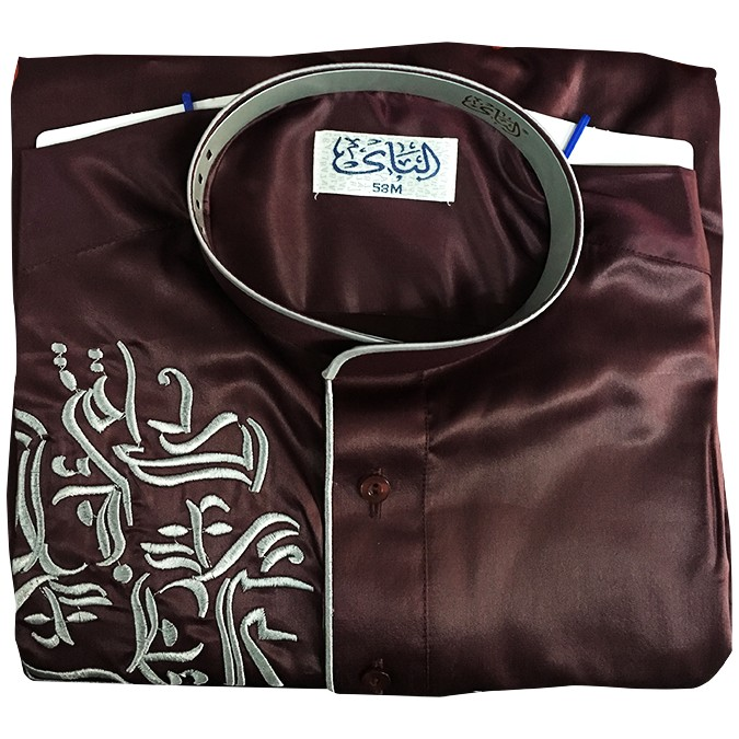 New modest embroidered men islamic clothing thobes silk men clothing