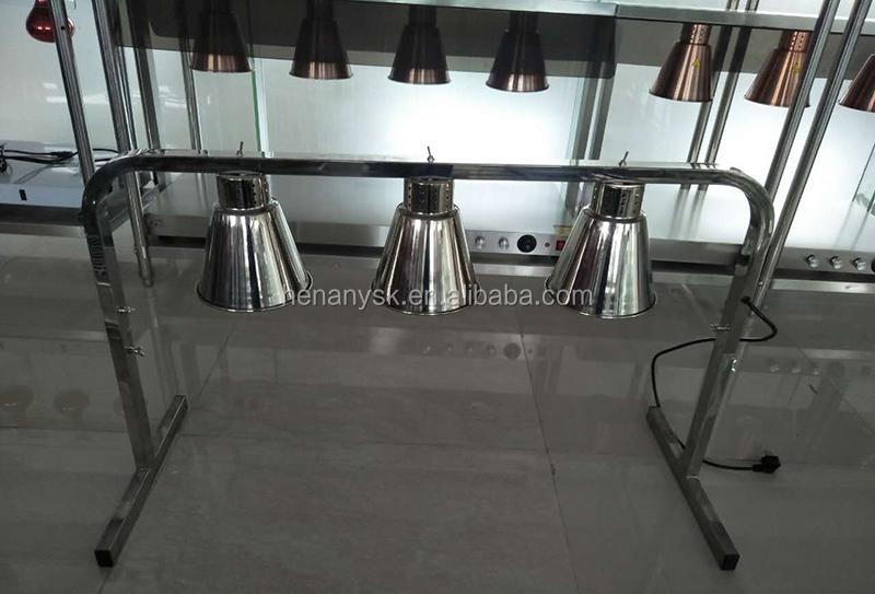 2 Light Food Warmer Heating Element Food Heat Lamp Food Warmer Casseroles Display Food Store Equipment