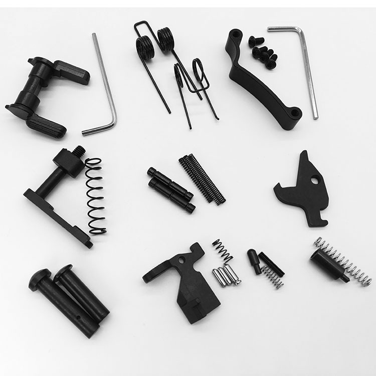 Mil-Spec Enhanced AR15 parts  / 5.56 Replacement ar15 lower parts kit, Black