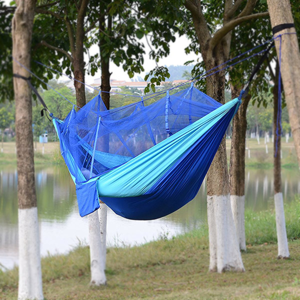 Earnest Ultralight Hanging Bed Mosquito Net Outdoor Hunting Hammock Camping Mosquito Net For 2 Person Travel Home Travel Net Leisure Home Textile Bedding
