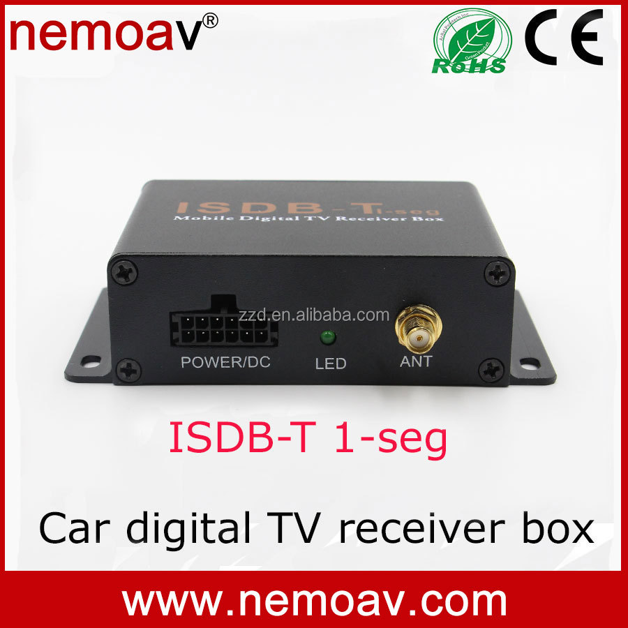 car isdb-t one seg digital <strong>tv</strong> <strong>tuner</strong> receiver <strong>set</strong> <strong>top</strong> box for South America