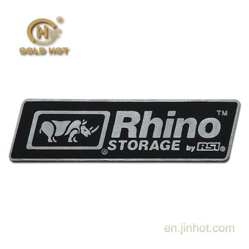custom brushed silver engraved <strong>logo</strong> embossed metal sticker