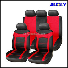 HY-S3006 Factory Direct Sale American Style 9pcs Double Stitching Mesh Car Seat Cover