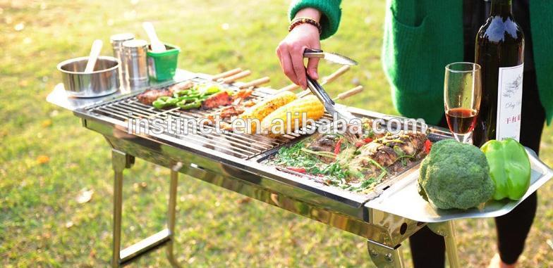 Professionale doppia bruciatori a gas portatile barbecue grill barbecue usa e getta pan griglia - Barbecue portatile a gas ...