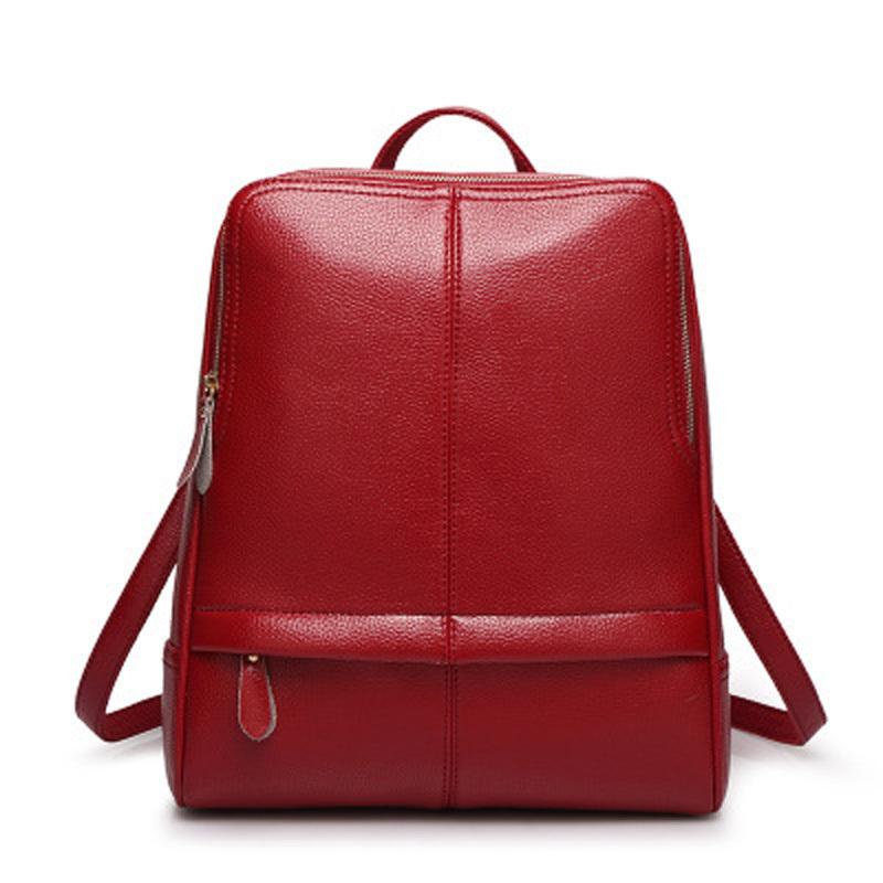 Get Quotations · Bolsas Mochilas Femininas Fashion Woman Leather Backpacks  Preppy Style Shoulder School Bags Cute Backpack Backbag Travel 8515907d05b06