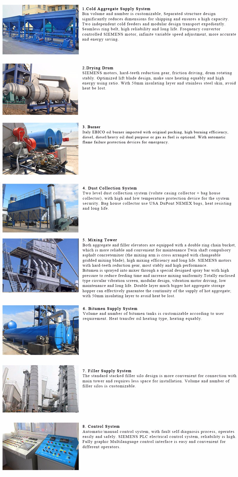 LB800 road construction used machine asphalt mixing plant for sale