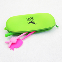 Candy-colored Silicone Pen Bag Multifunctional Handbag Zipper Pencil Case