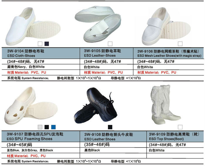 SanWei Cleanroom Esd boots Cleanroom Shoes Antistatic Shoes made in china